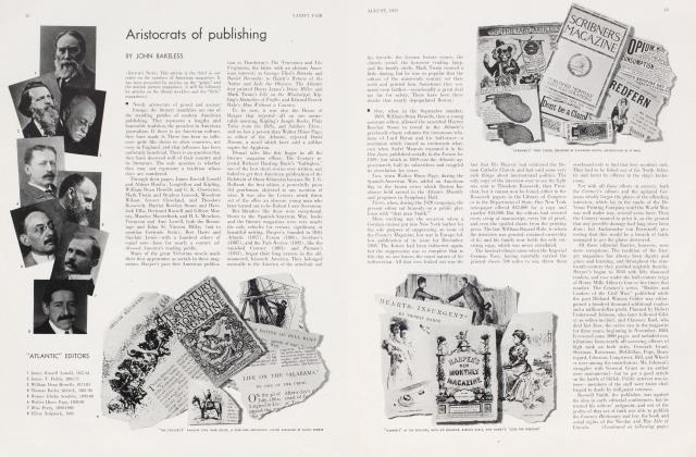 Article Preview: Aristocrats of publishing, August 1933 | Vanity Fair