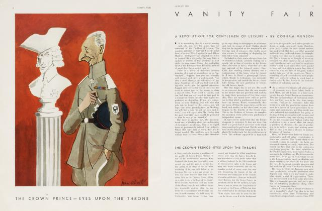 Article Preview: A REVOLUTION FOR GENTLEMEN OF LEISURE, August 1933 | Vanity Fair