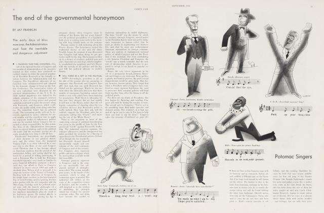 Article Preview: The end of the governmental honeymoon, September 1933 | Vanity Fair