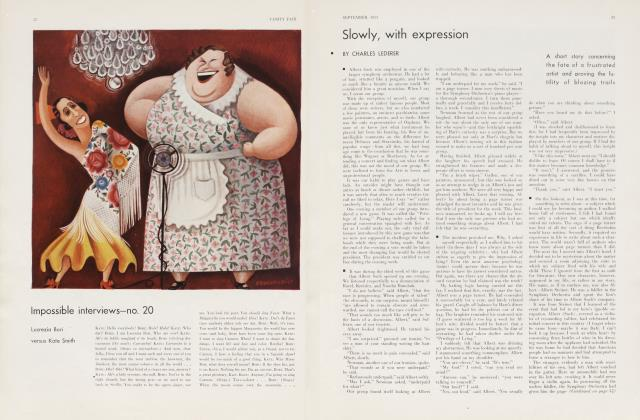 Article Preview: Slowly, with expression, September 1933 | Vanity Fair
