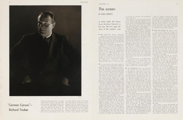 Article Preview: The screen, September 1933 | Vanity Fair