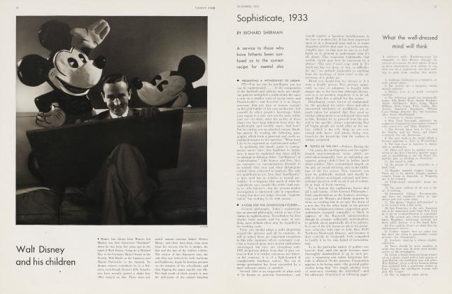 Sophisticate, 1933