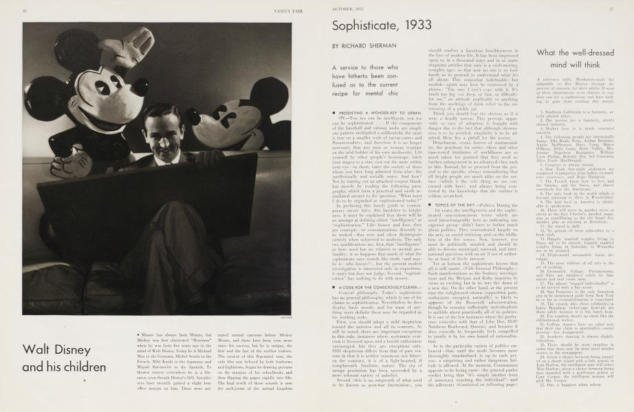 Sophisticate, 1933
