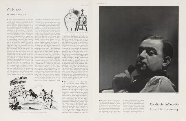 Article Preview: Candidate LaGuardia Threat to Tammany, November 1933 1933 | Vanity Fair