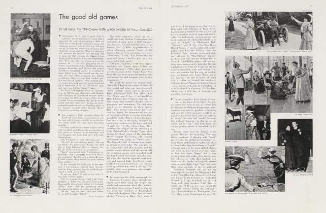 Article Preview: The good old games, November 1933 1933 | Vanity Fair