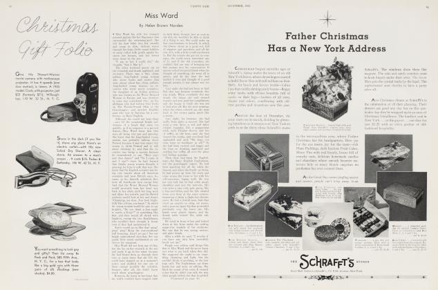 Article Preview: Miss Ward, December 1933 1933 | Vanity Fair