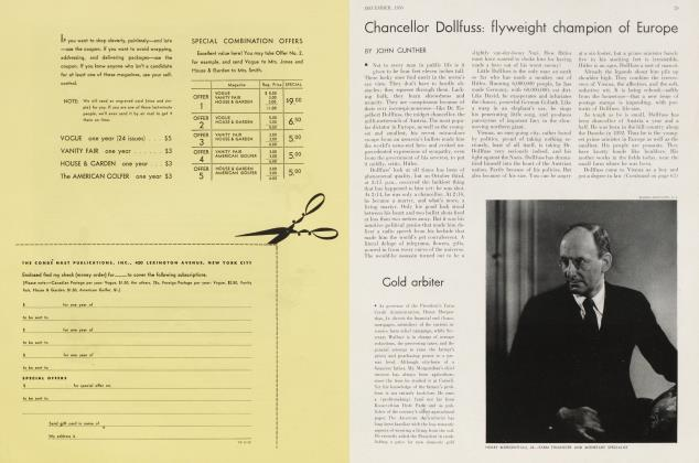 Article Preview: Chancellor Dollfuss: flyweight champion of Europe, December 1933 1933 | Vanity Fair