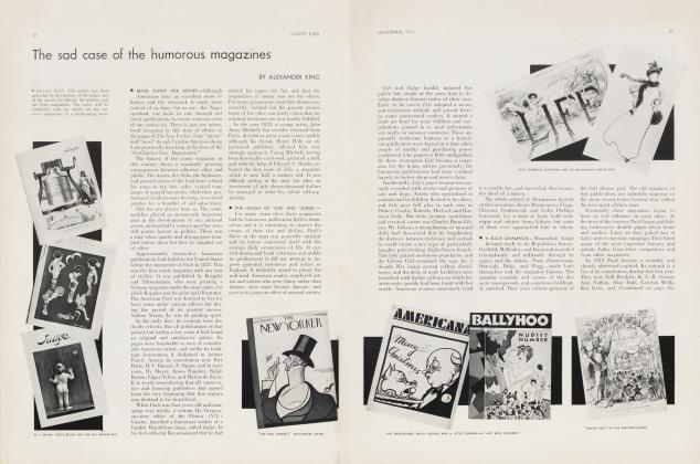 Article Preview: The sad case of the humorous magazines, December 1933 | Vanity Fair