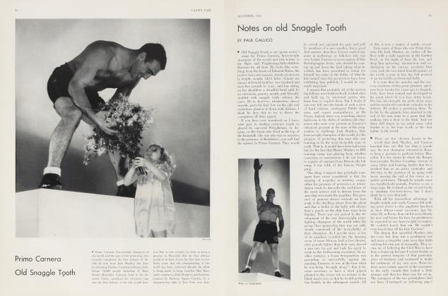 Article Preview: Notes on old Snaggle Tooth, December 1933 | Vanity Fair