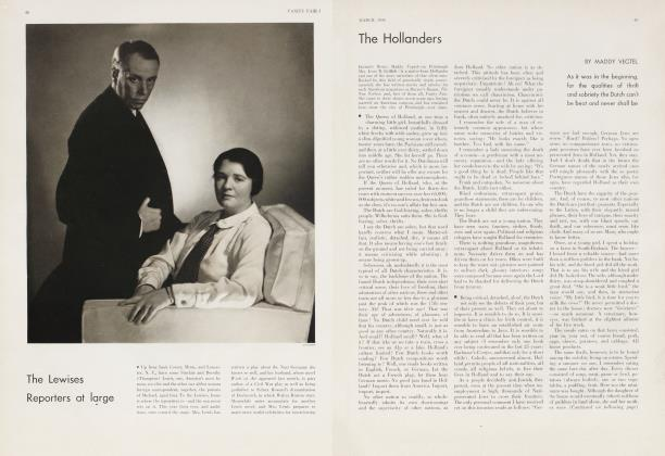 Article Preview: The Hollanders, March 1934 | Vanity Fair