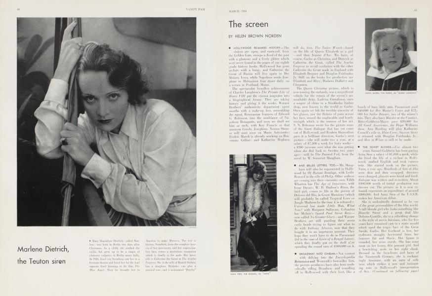 Marlene Dietrich, the Teuton siren
