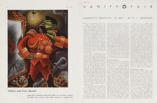 Article Preview: AMERICA'S HOSTILITY TO ART, April 1934 | Vanity Fair