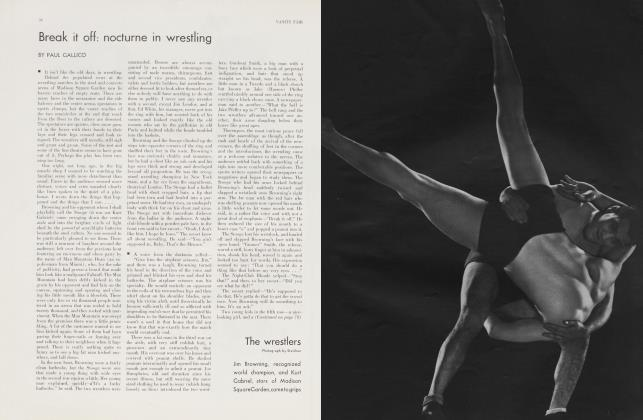 Article Preview: Break it off: nocturne in wrestling, April 1934 | Vanity Fair