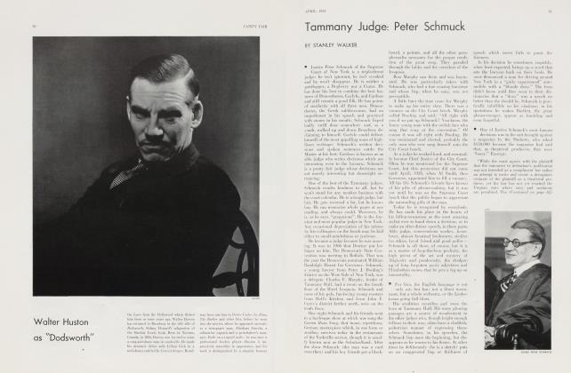 Article Preview: Tammany Judge: Peter Schmuck, April 1934 | Vanity Fair
