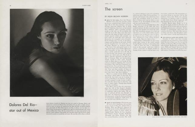 Article Preview: The screen, April 1934 1934 | Vanity Fair