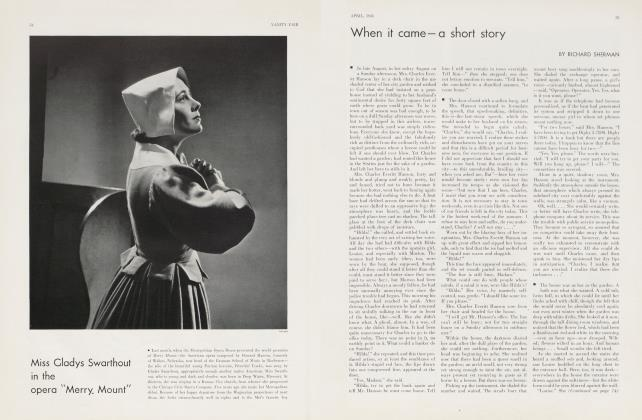 Article Preview: When it came—a short story, April 1934 | Vanity Fair