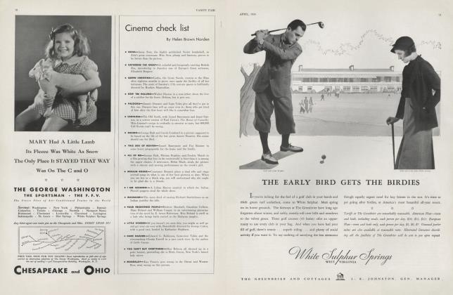 Article Preview: Cinema check list, April 1934 1934 | Vanity Fair