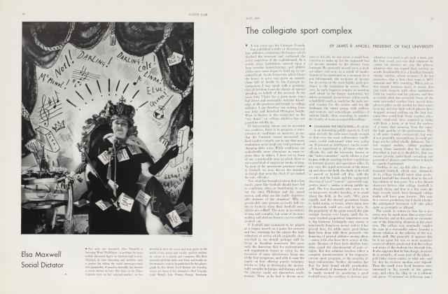 Article Preview: The collegiate sport complex, May 1934 | Vanity Fair