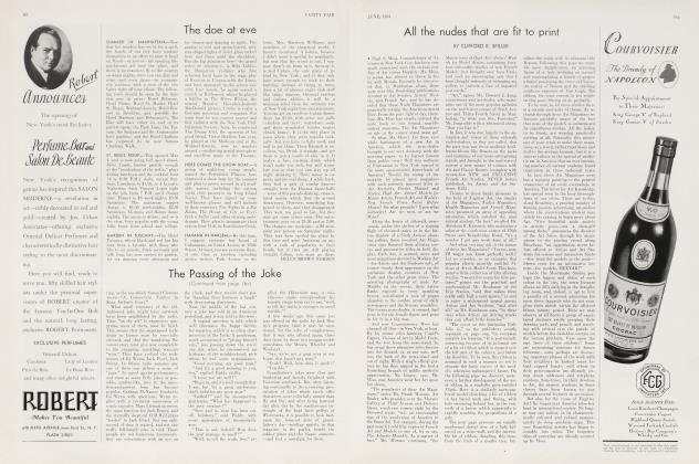Article Preview: The doe at eve, June 1934 1934   Vanity Fair