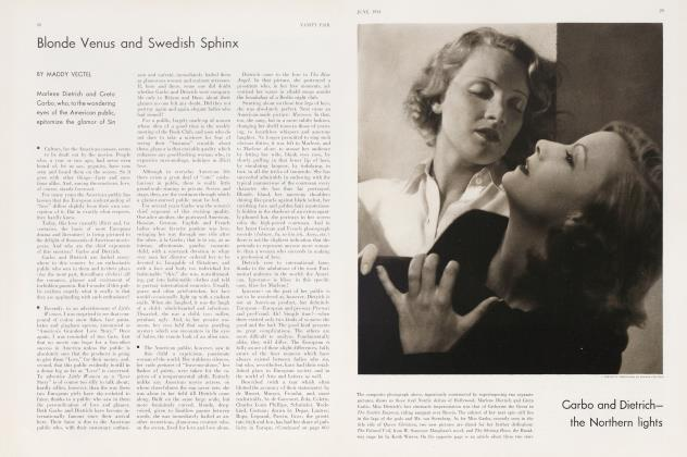 Article Preview: Blonde Venus and Swedish Sphinx, June 1934 | Vanity Fair