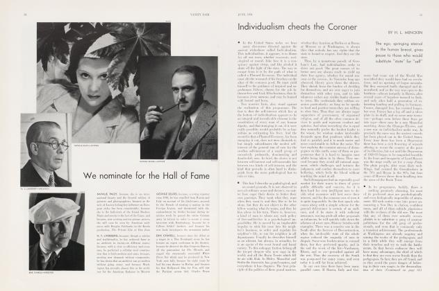 Article Preview: Individualism cheats the Coroner, June 1934 | Vanity Fair