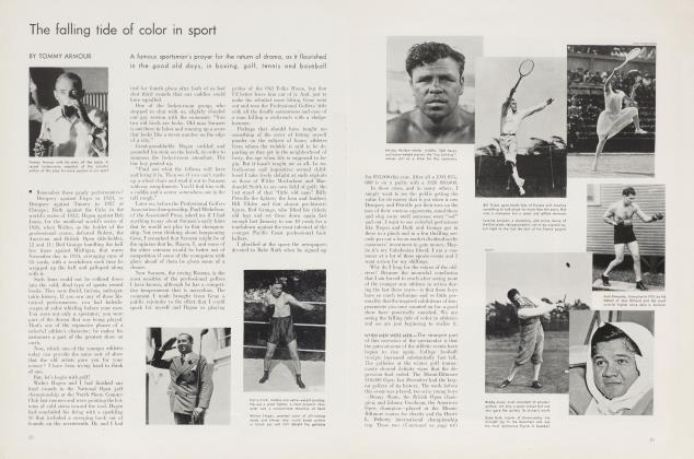 The falling tide of color in sport