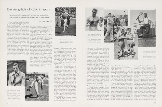 Article Preview: The rising tide of color in sports, August 1934 | Vanity Fair