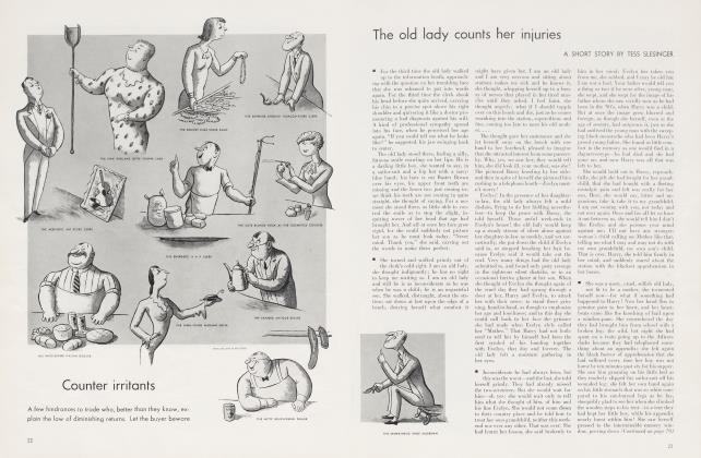 Article Preview: The old lady counts her injuries, October 1934 1934 | Vanity Fair