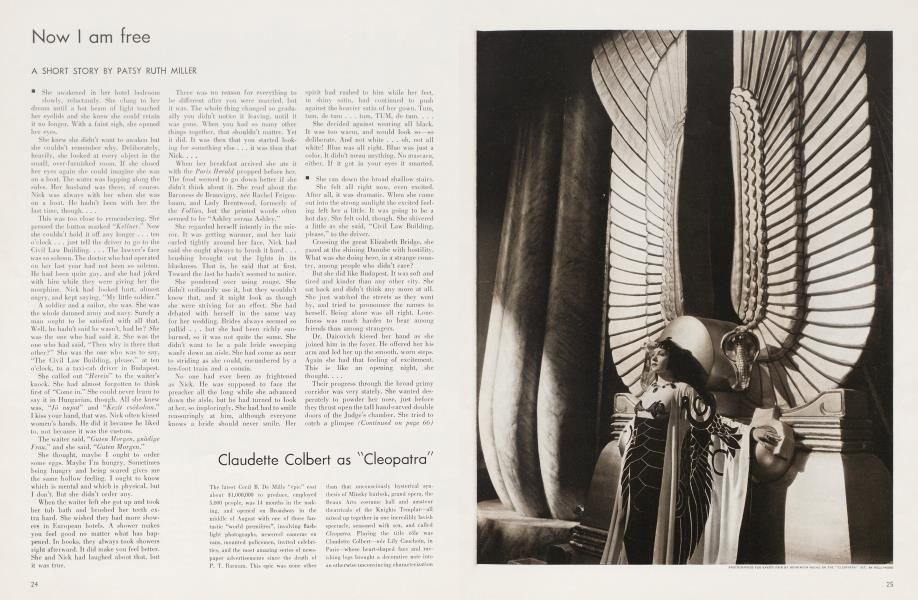 "Claudette Colbert as ""Cleopatra"""