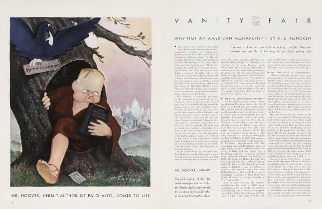 Article Preview: WHY NOT AN AMERICAN MONARCHY?, November 1934 | Vanity Fair