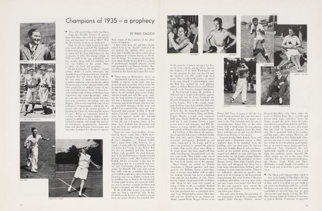 Article Preview: Champions of 1935 — a prophecy, January 1935 | Vanity Fair