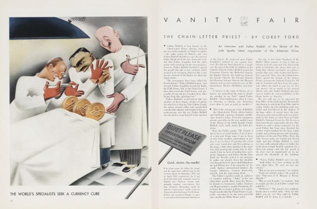 Article Preview: THE CHAIN-LETTER PRIEST, July 1935 | Vanity Fair