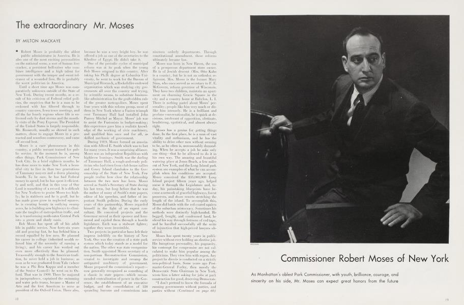 Commissioner Robert Moses of New York
