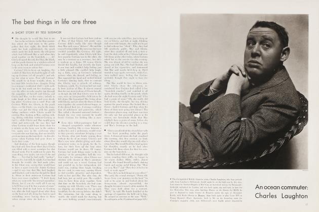 Article Preview: The best things in life are three, August 1935 | Vanity Fair