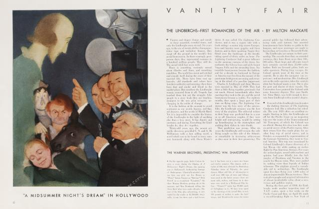 Article Preview: THE LINDBERGHS—FIRST ROMANCERS OF THE AIR, October 1935   Vanity Fair