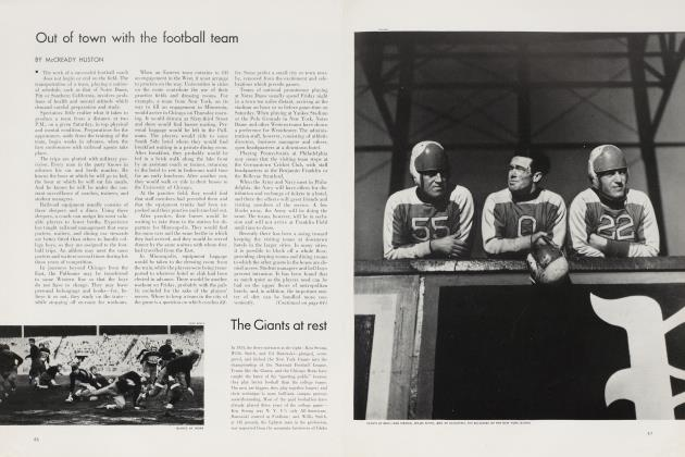 Article Preview: Out of town with the football team, November 1935 | Vanity Fair