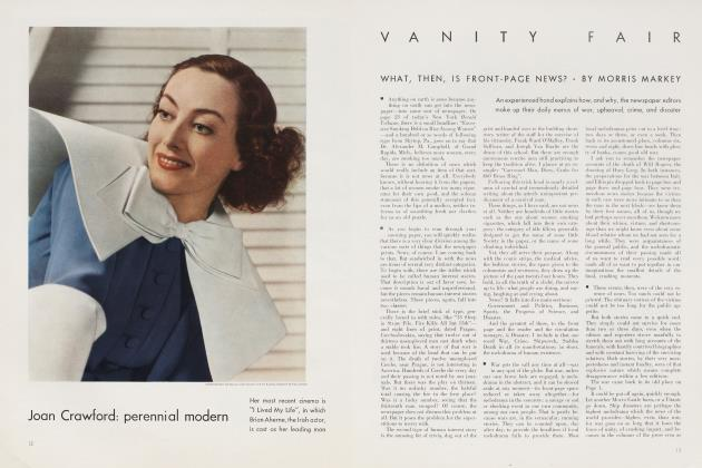 Article Preview: WHAT, THEN, IS FRONT-PAGE NEWS?, November 1935 | Vanity Fair