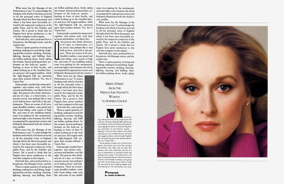 MERYL STREEP: FROM THE FRENCH LIEUTENANT'S WOMAN TO SOPHIE'S CHOICE