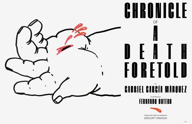 Article Preview: CHRONICLE OF A DEATH FORETOLD, March 1983 | Vanity Fair