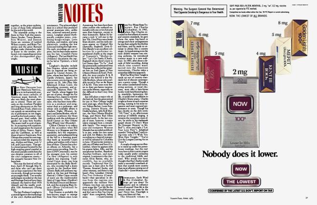 Article Preview: VANITY FAIR NOTES, April 1983 1983 | Vanity Fair