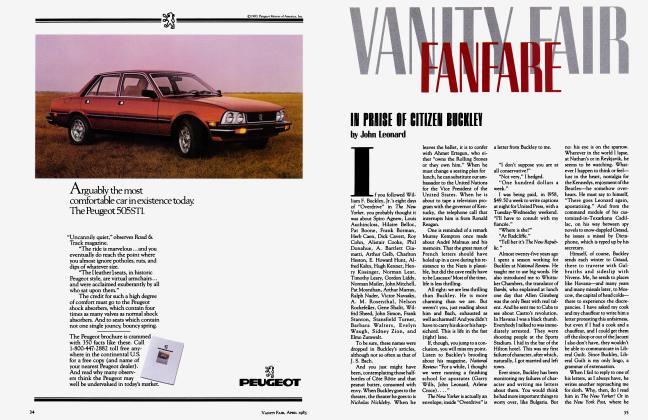 Article Preview: IN PRAISE OF CITIZEN BUCKLEY, April 1983 1983   Vanity Fair