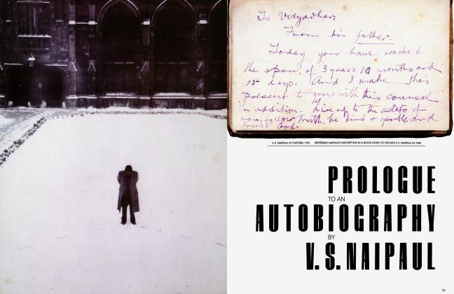 PROLOGUE TO AN AUTOBIOGRAPHY BY V. S. NAIPAUL