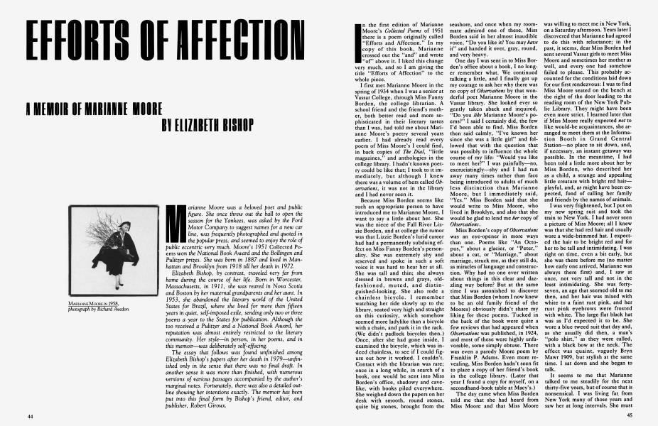 EFFORTS OF AFFECTION
