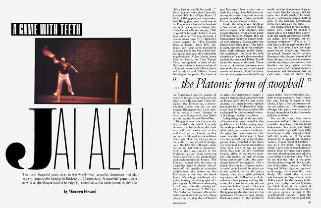 Article Preview: A GAME WITH TEETH JAI ALAI, July 1983 | Vanity Fair