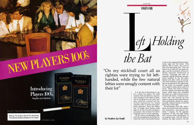 Article Preview: Left Holding the Bat, August 1983 | Vanity Fair