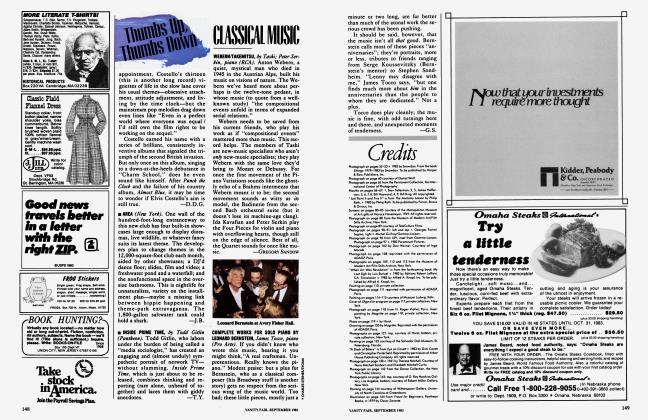 Article Preview: CLASSICAL MUSIC, September 1983 1983 | Vanity Fair