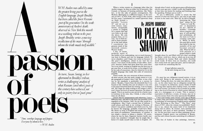 Article Preview: A Passion of poets, October 1983 | Vanity Fair