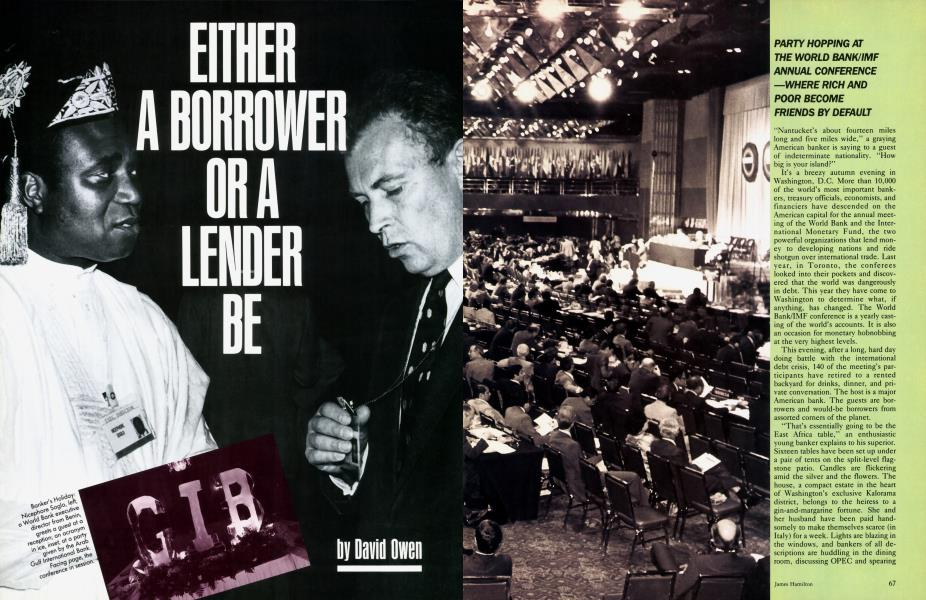 EITHER A BORROWER OR A LENDER BE