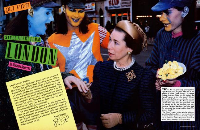 Article Preview: QUI VIVE STYLE ALERT FROM LONDON, March 1984 1984 | Vanity Fair