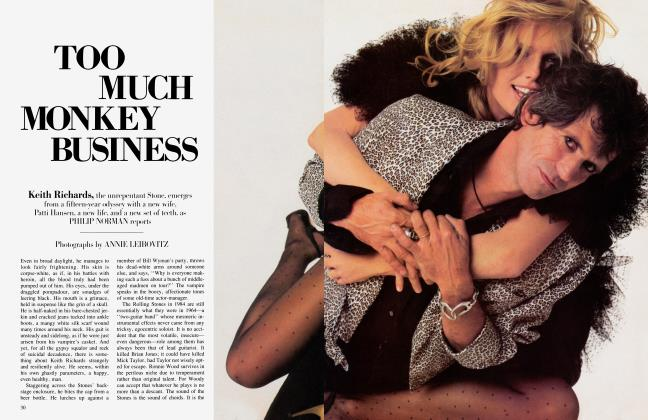 Article Preview: TOO MUCH MONKEY BUSINESS, April 1984 1984 | Vanity Fair